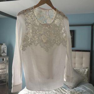 EUC See by Chloe Gorgeous White Lace Sz 42 Flowy